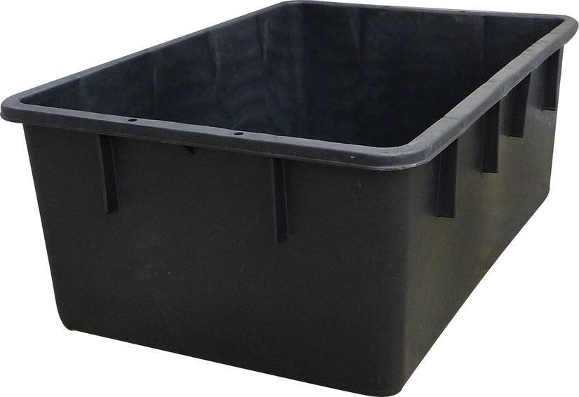 Rectangular container black